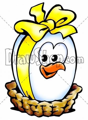 easter eggs in a basket cartoon. easter eggs in a asket